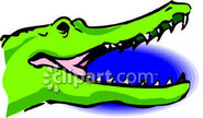 Open Crocodile Mouth Royalty Free Clipart Picture 090219-231601-877048