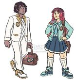 Cass and Aria School Uniforms by Carey Pietsch
