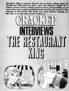 Cracked Interviews the Restaurant King