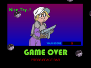 Sylvester in Space - Game Over