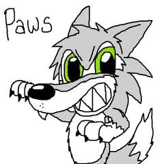 Later drawing of Paws' original design.