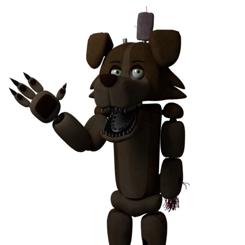 Finished render of the animatronic Marbles model.