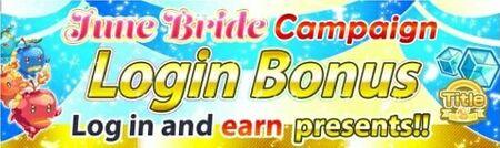 June Bride Campaign Login Bonus Banner