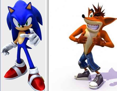 Sonic and Crash