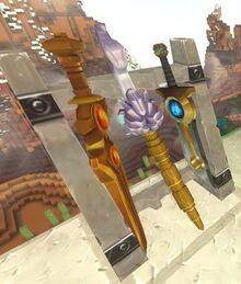 Creativerse Weapon Rack Golden Sword Rainbownator61