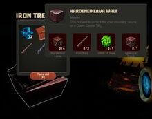 Creativerse Hardened Lava Wall Iron Chest8484