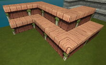 Creativerse R41,5 stairs with inner and outer corners 148