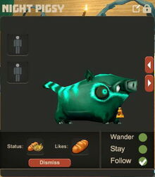 Creativerse night pigsy pet follow74