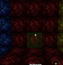 Creativerse Shop Red Stained Glass night2984