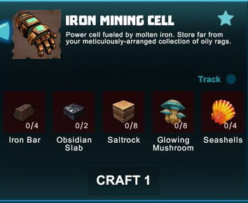 Creativerse R41 crafting recipes iron mining cell01
