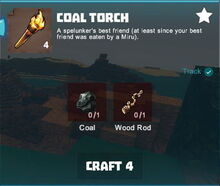 Creativerse crafting tracking coal torch001