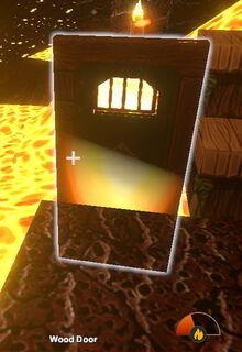 Creativerse flammable wood door starts burning R26 45