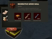 Creativerse Decorative Wood Wall Wood Chest48484