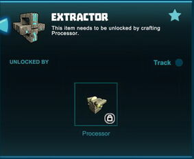 Creativerse unlocks R41 Extractor
