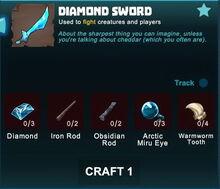 Creativerse sword crafting recipe 84