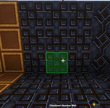 Creativerse Checkered Obsidian Wall88