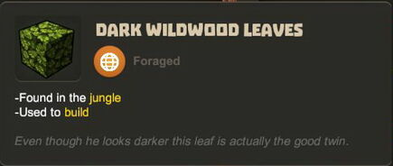 Creativerse R27 tooltips leaves0707