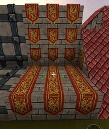 Creativerse R41 colossal castle Medieval Banner Wall2
