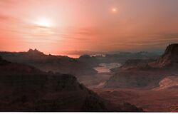 Gliese 667 Cc sunset