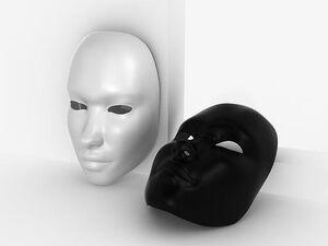 Black white mask 1