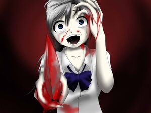 Crying anime girl with knife base by dtoksick d4u3 by mame lyssa-d617rmf