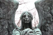 Grave stone angel by vampiko