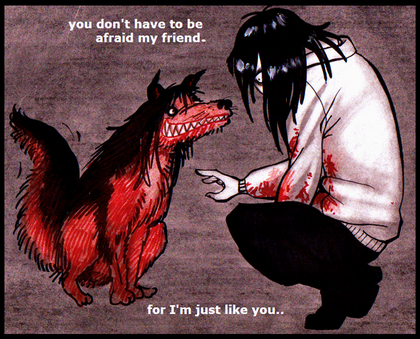File:Smiledog and jeff the killer by tehcheychibi-d51slpf.png