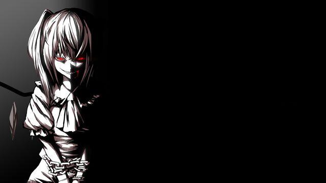 File:Creepy touhou dark vampires red eyes flandre scarlet desktop 1500x844 hd-wallpaper-1202777.jpg