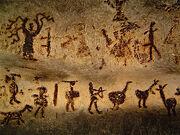 Slender man cave painting