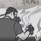 Arsonists grafitti