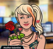 A pleased Heather Valentine