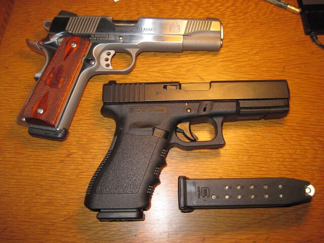 File:1911 and Glock.jpg