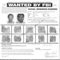 Resendiz's FBI wanted poster