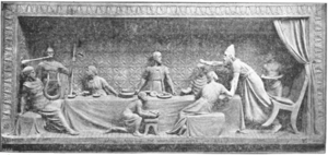 Saul Throws Spear at David by George Tinworth.png