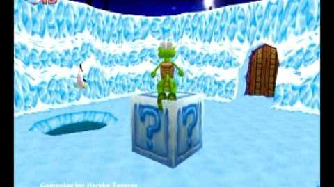 Croc Legend of the Gobbos (PC) - Island 2 Boss 1 (Chumly's Snow Den)