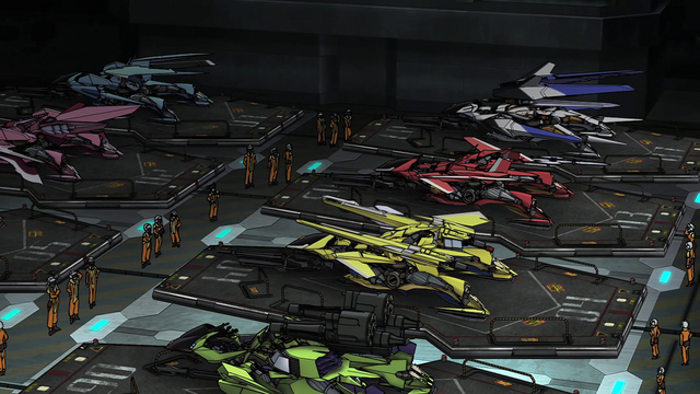 File:Cross Ange 06 Paramails on the Landing Platforms.png