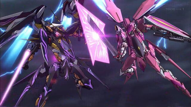 File:Cross Ange ep 24 Arquebus Vanessa battling against Hysterica in a one on one combat.jpg
