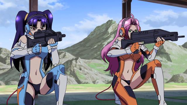 File:Cross Ange ep 06 Salia and Ersha at the shooting range.png