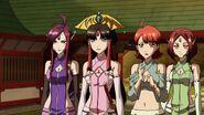 Cross Ange ep 15 Salamandinay, Naga, Kaname and Lamia