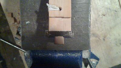 Making metal nock reinforcement - 08