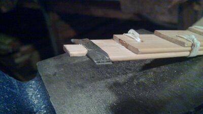 Making metal nock reinforcement - 09