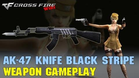 CrossFire -AK-47 Knife Black Stripe - Weapon Gameplay