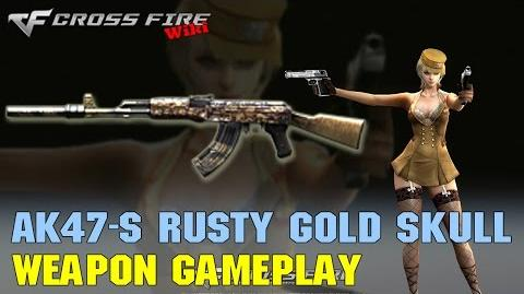 CrossFire - AK47-S Rusty Gold Skull - Weapon Gameplay