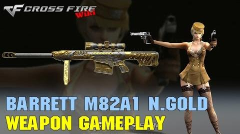 CrossFire - Barrett M82A1-Born Beast Noble Gold - Weapon Gameplay