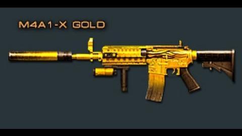 Cross Fire Japan M4A1-X Gold Fire (Assault Rifle) Review!