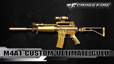 CrossFire China M4A1-Custom Ultimate Gold ☆