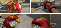 Boxing gloves diff views