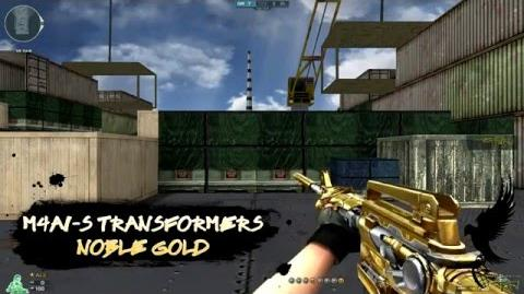 CrossFire M4A1-S Transformers Noble Gold Quick Review!