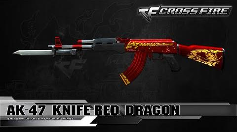 CrossFire Korea AK-47 Knife-Red Dragon ☆