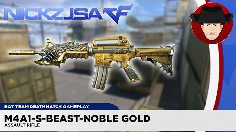 M4A1-S-Beast-Noble Gold CROSSFIRE China 2.0 (EXP)